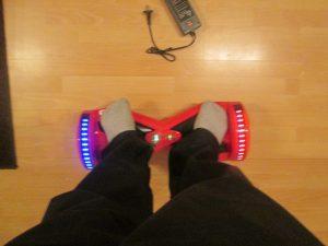 státie na hoverboarde