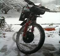 zima elektrobicykel