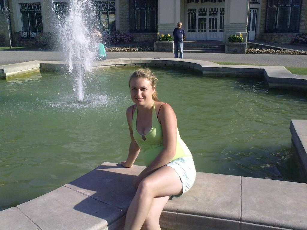 kačička pri fontáne
