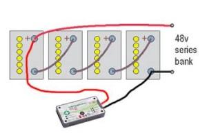 zapojenie baterii  do serie 48V