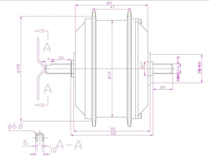 qqm128 elektrobicykel motor