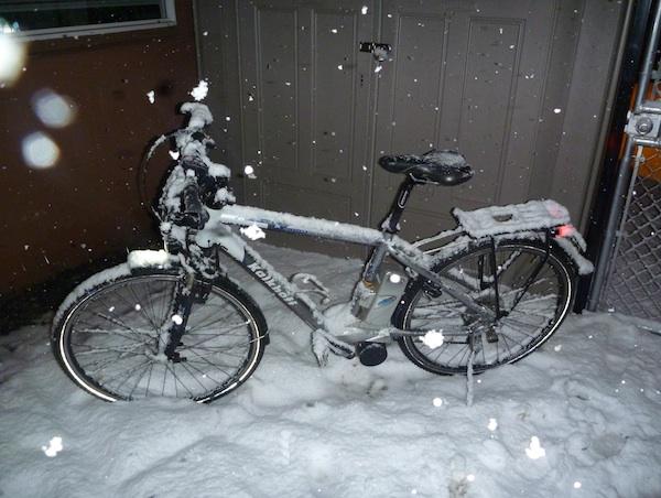 elektrobicykel v zime