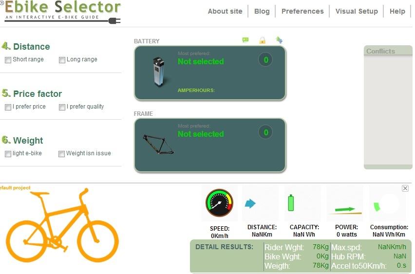 Web aplikácia pre skladanie elektrobicyklu