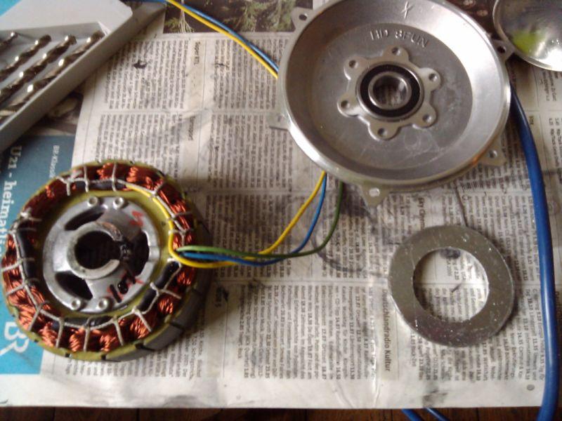 Hubmotor prerábka na stredový motor