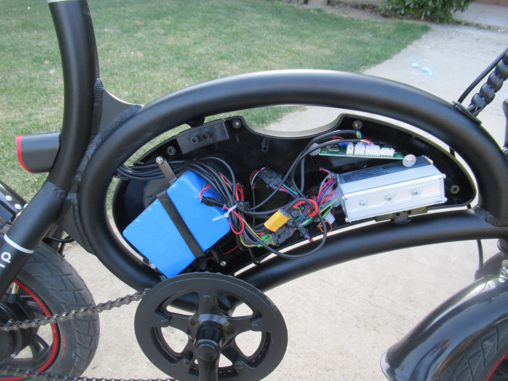 DYU vnútrko 1024x768 DYU skladací mini elektrobicykel oprava a recenzia