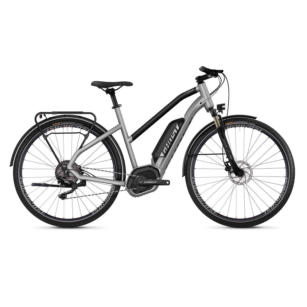 "Dámsky trekingový elektrobicykel Ghost Hybride Square Trekking B2.8 Ladies 28"" – model 2019 Iridium Silver / Jet Black – XS (16,5"") – Záruka 10 rokov"