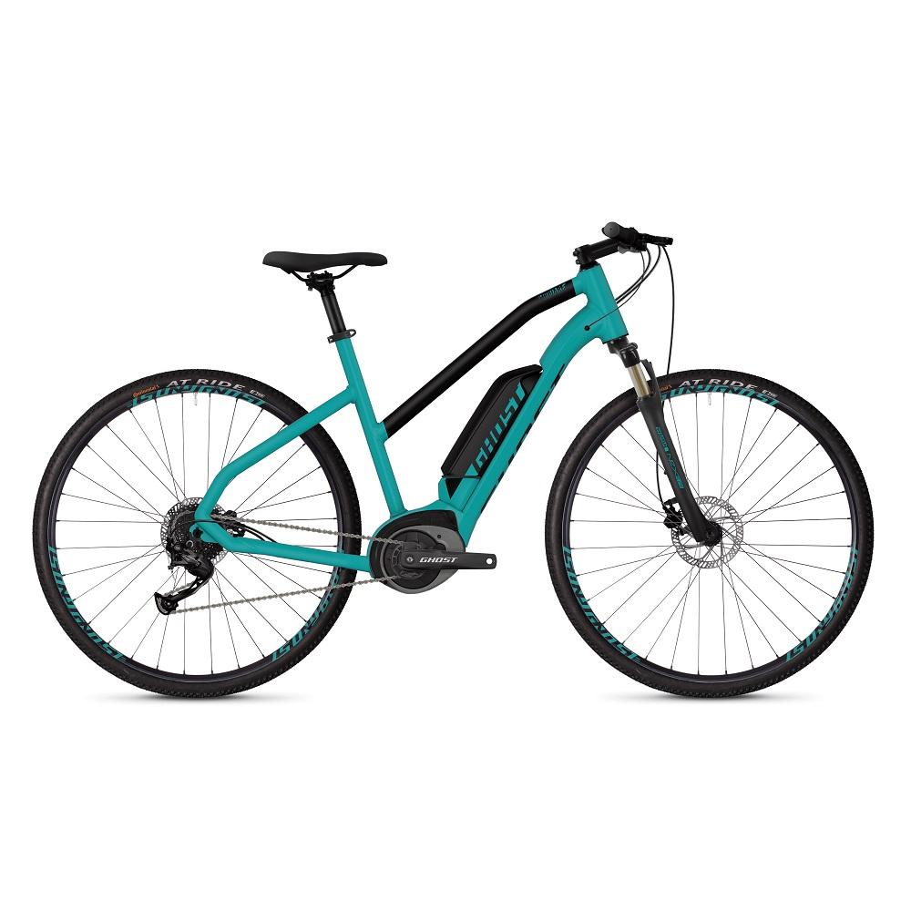 Dámsky crossový elektrobicykel Ghost Square Cross B1.8 Ladies model 2019 Electric Blue / Jet Black – XS – Záruka 10 rokov